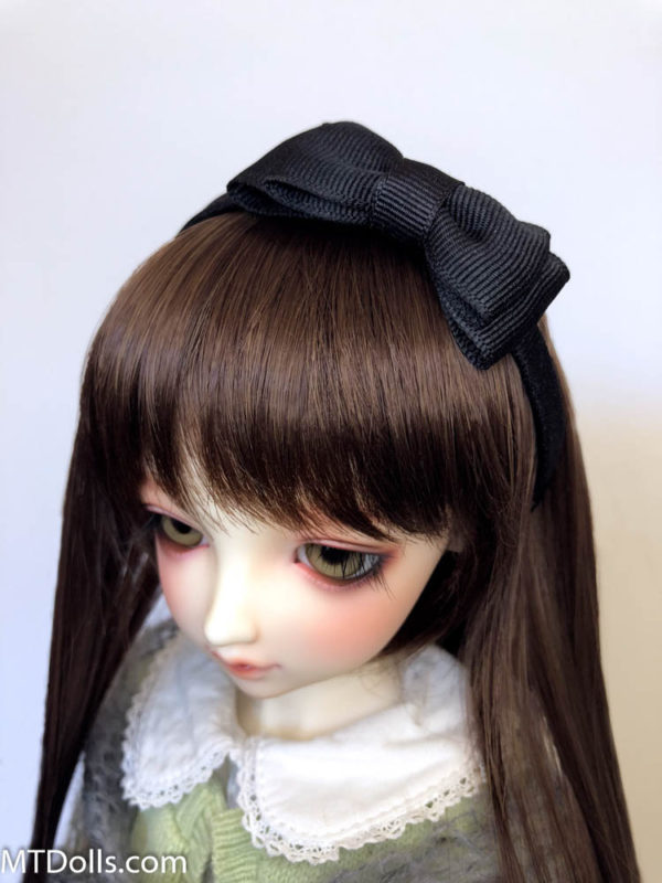 BJD DD Headband Maria with large bow in Black