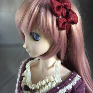 Dollfie Dream BJD Double Bow Headband in Bordeaux
