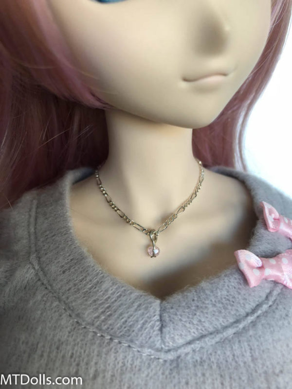 Dollfie Dream Jewel Drop Necklace in Pale Pink