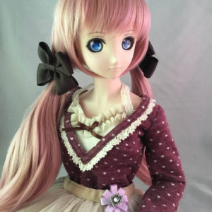 Dollfie Dream Large Bow Hair Clip in Black