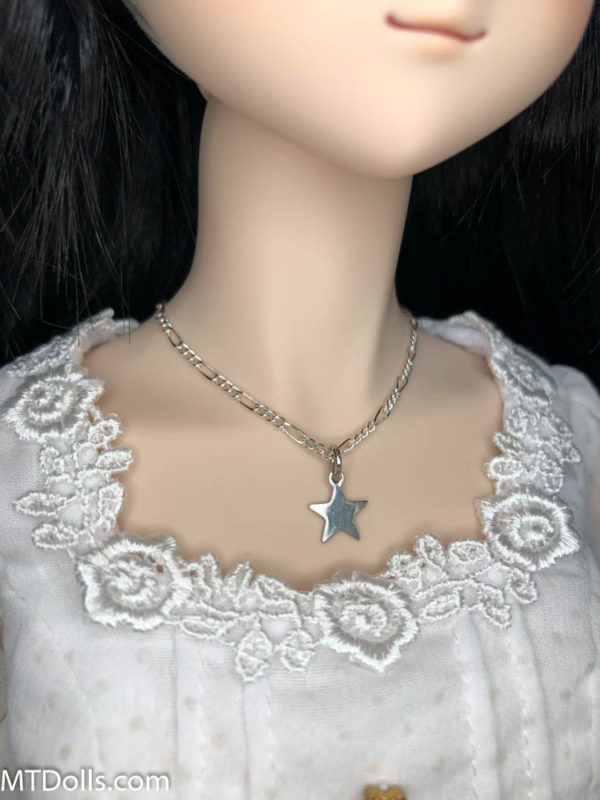 Dollfie Dream Silver Star Charm Necklace