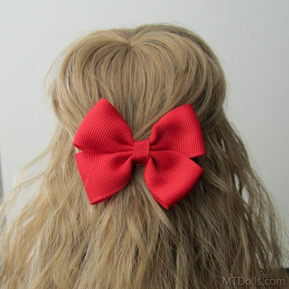 Large Bow Hair Clip in Red