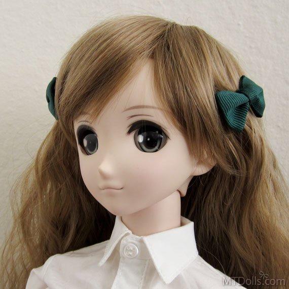 Mini Bow Hair Clips in Green