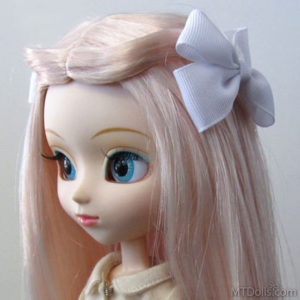 Pullip BJD DD Large Bow Hair Clip in White