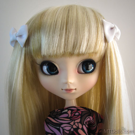 Pullip BJD Mini Bow Hair Clips in White