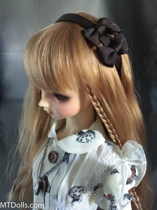 SD DD Double Bow Headband in Black