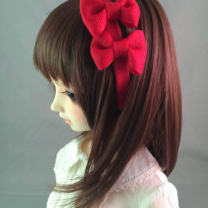 SD/DD Double Bow Headband in Red