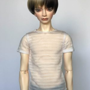 SD17 tshirt Sheer Stripes White BJD SuperGem EID