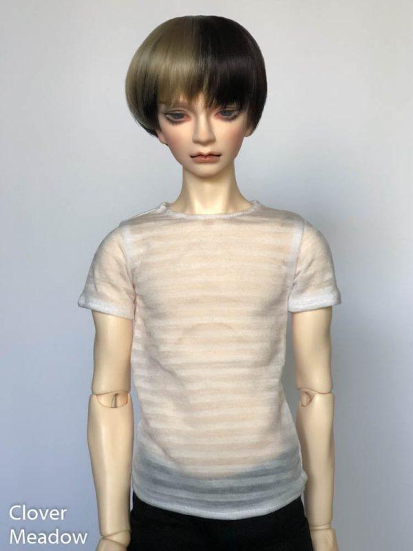 SD17 tshirt Sheer Stripes White BJD SuperGem EID
