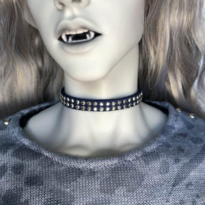 BJD Choker with Rhinestones Faux Suede Collar