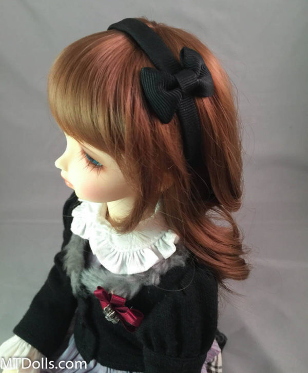MSD BJD Headband with Bow in Black