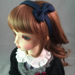 MSD Headband with Bow in Navy Blue