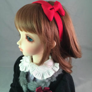 MSD Headband with Bow in Red