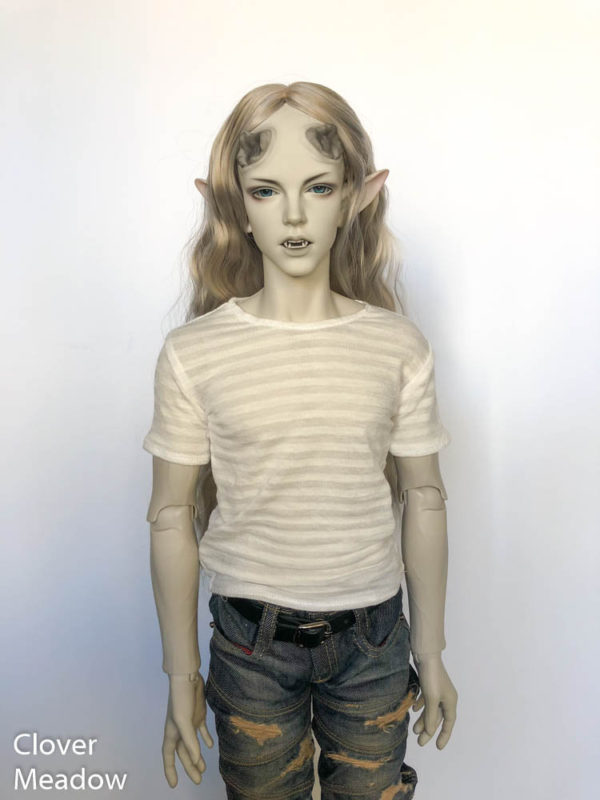 SID shirt Sheer Stripes White BJD Iplehouse