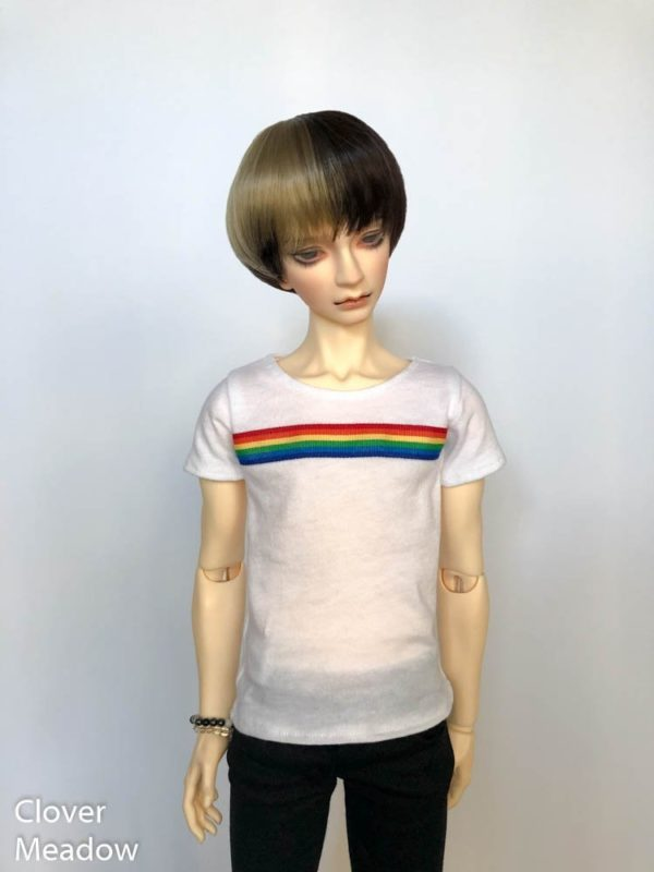 65cm shirt Rainbow Stripe BJD SD17