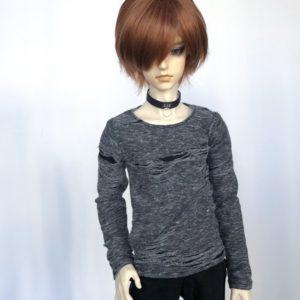 65cm Distressed grey shirt long sleeve BJD SD17
