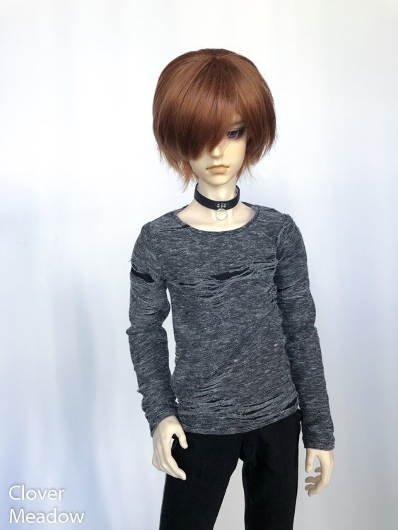 65cm Distressed grey shirt long sleeve BJD SD17