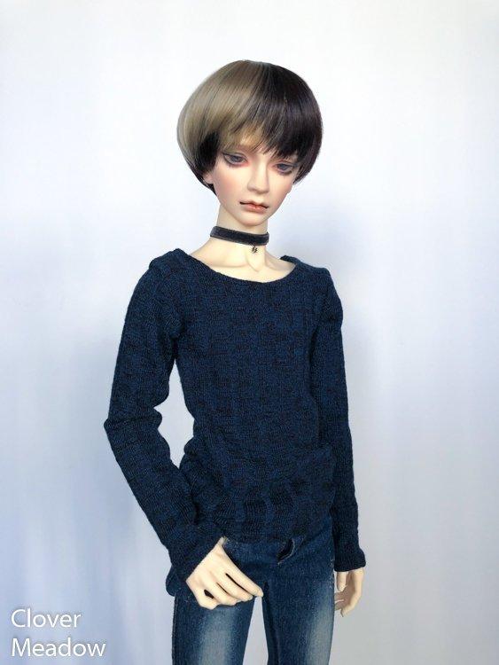65cm Indigo Blue Sweater shirt long sleeve BJD SD17