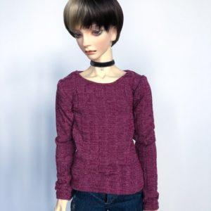 65cm Raspberry Sweater shirt long sleeve BJD SD17