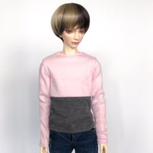 65cm Pink and Grey long sleeve shirt BJD SD17
