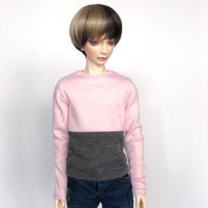 65cm Pink and Grey long sleeve shirt BJD SD17