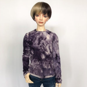 65cm Purple Tie Dye Sweatshirt long sleeve shirt BJD SD17