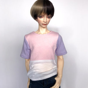 65cm shirt Pastel Colorblock BJD SD17