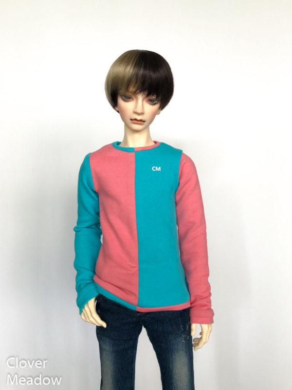 65cm Two Color Color Block Sweatshirt long sleeve shirt BJD SD17